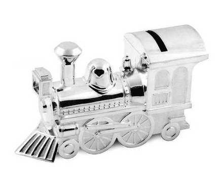 Train Money Box Silver Plated Personalised