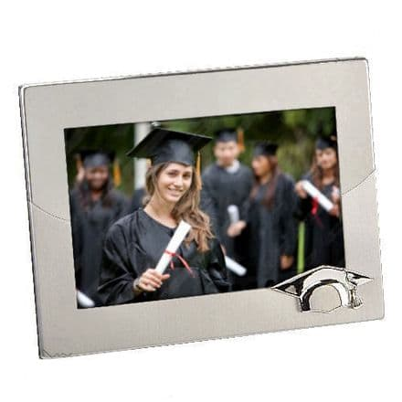 Two Tone Graduation Cap Photo Frame Personalised
