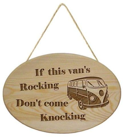 V W Camper Van Sign Wooden Hanging Sign