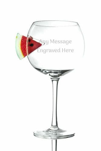 Watermelon Large Balloon Copa Gin Glass Personalised
