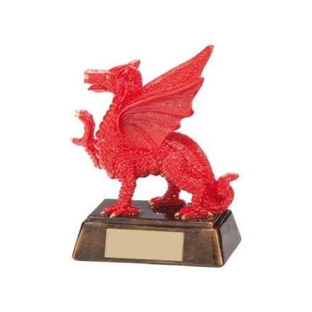 Welsh Celtic Red Dragon Resin Rugby Award