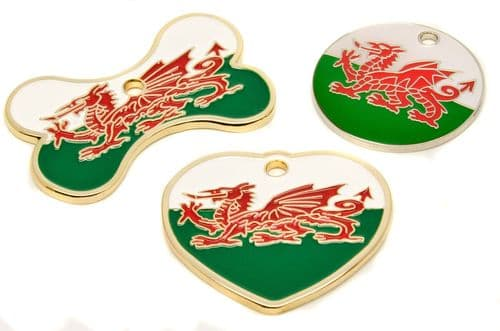 Welsh Flag Tags
