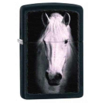 White Horse Zippo Lighter Personalised