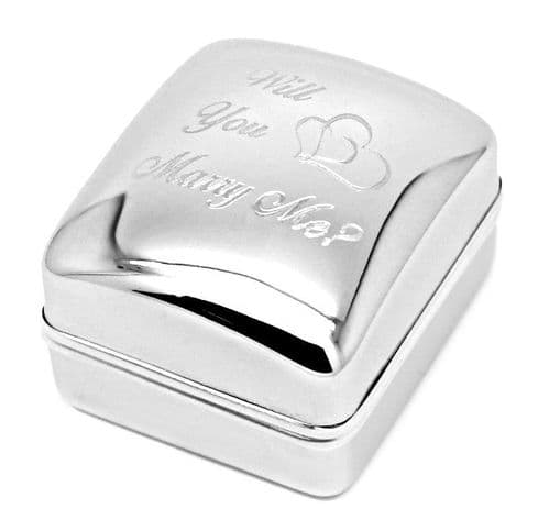 Will You Marry Me? Chrome Ring Box Personalised