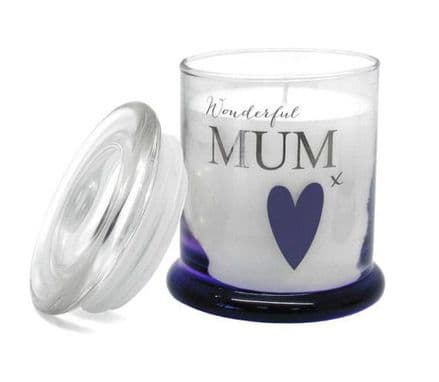 Wonderful Mum Scented Candle in a Jar Personalised