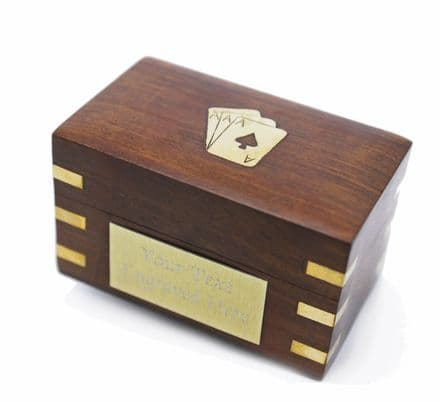 Wooden Double Playing Card Box Personalised
