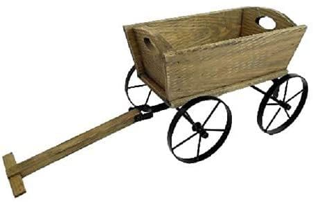 Wooden Rustic Flower Cart Planter Personalised