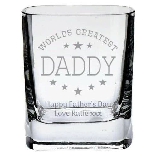 Worlds Greatest Daddy/Dad Shot Glass Personalised