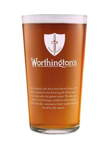 Worthington's Bitter Conical 1 Pint Glass Personalised