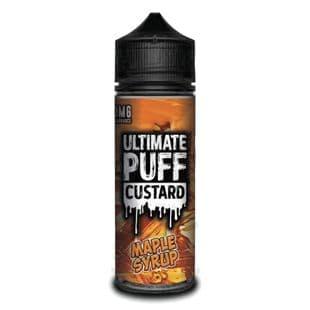 Ultimate Puff  Custard - Maple Syrup E-liquid 120ML Shortfill £15.95 + FREE Nic Shots