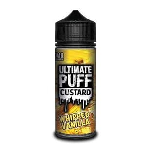 Ultimate Puff  Custard  - Whipped Vanilla E-liquid 120ML Shortfill £15.95 + FREE Nic Shots