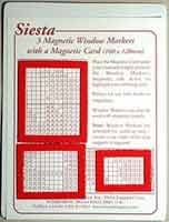 3 Magnetic Window Markers & Card