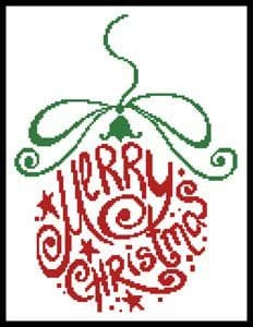Abtract Christmas Bauble by Artecy printed cross stitch chart