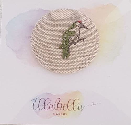 Bird 1 - Hand Embroidered Needle Minder