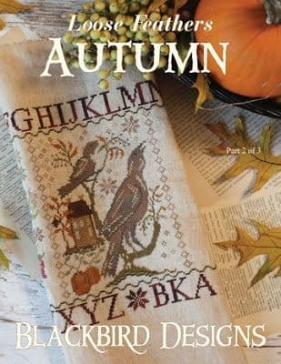 Blackbird Designs Autumn - Loose Feathers Series Cross Stitch Booklet