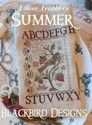 Blackbird Designs Summer - Loose Feathers Series Cross Stitch Booklet