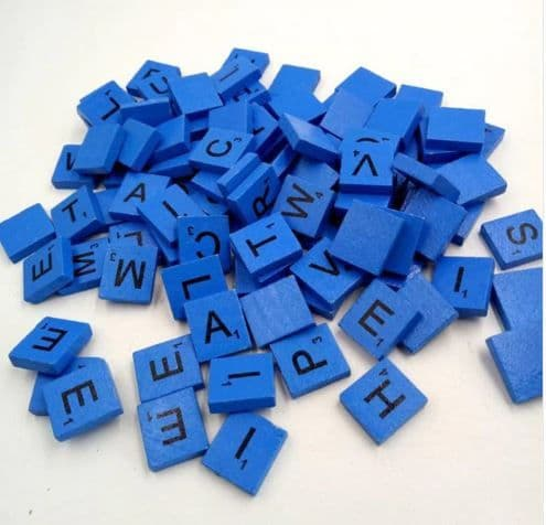 Blue Scrabble Letter Needle Minder