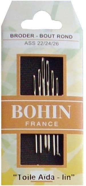 Bohin Cross Stitch/Tapestry Needles - Size 22/24/26
