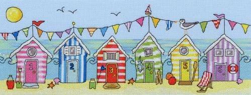 Bothy Threads Beach Hut Fun cross stitch kit