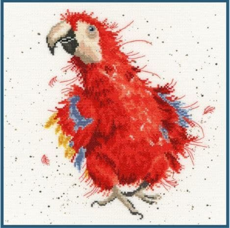 Bothy Threads Parrot on Parade - Hannah Dale cross stitch kit