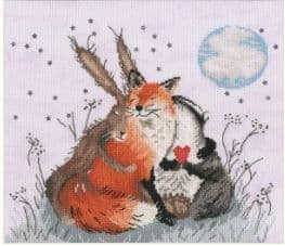 Bothy Threads Peace and Huggles cross stitch kit