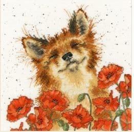 Bothy Threads Poppy Field - Hannah Dale cross stitch kit