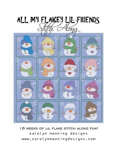 Carolyn Manning Designs All My Flakey Lil Friends  printed cross stitch chart