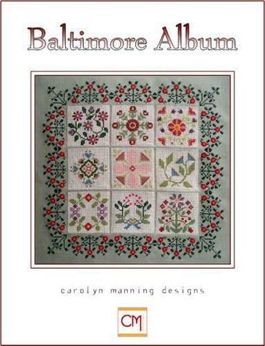 Carolyn Manning Designs Baltimore Album printed cross stitch chart