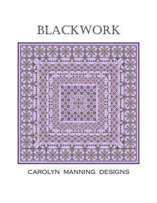 Carolyn Manning Designs Blackwork #1 printed cross stitch chart