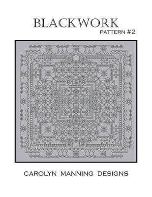 Carolyn Manning Designs Blackwork #2 printed cross stitch chart