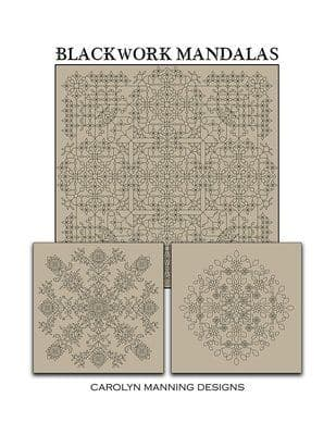 Carolyn Manning Designs Blackwork Mandalas printed cross stitch chart