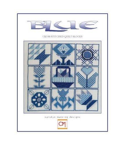Carolyn Manning Designs Blue printed cross stitch chart