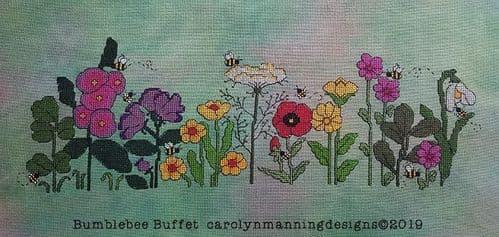 Carolyn Manning Designs Bumblebee Buffet printed cross stitch chart