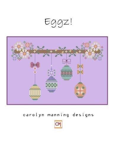 Carolyn Manning Designs Eggz  printed cross stitch chart