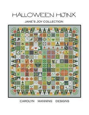 Carolyn Manning Designs Halloween Hijinx printed cross stitch chart