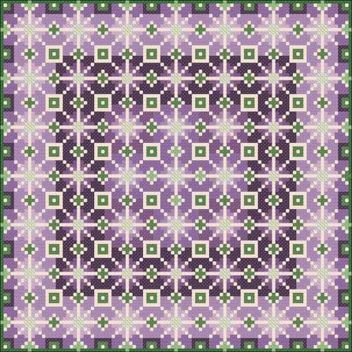Carolyn Manning Designs Hydrangea printed cross stitch chart