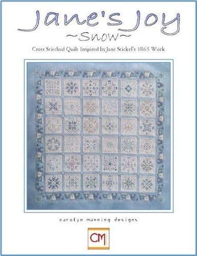 Carolyn Manning Designs Jane's Joy Snow printed cross stitch chart