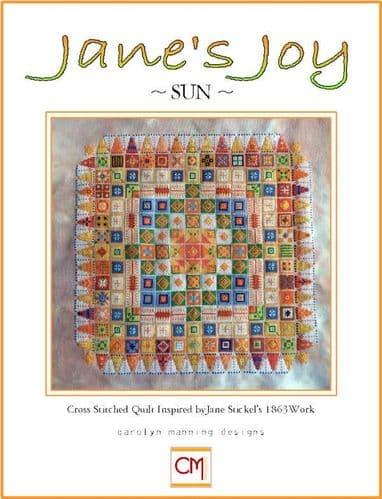 Carolyn Manning Designs Jane's Joy Sun printed cross stitch chart