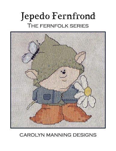 Carolyn Manning Designs Jepedo Fernfrond - The Fern Folk series printed cross stitch chart