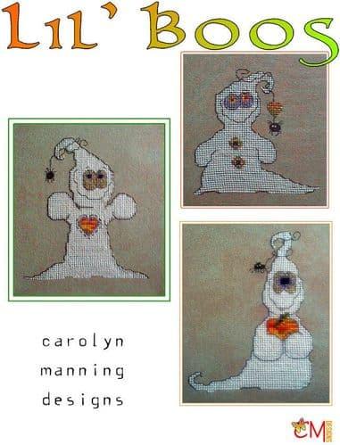 Carolyn Manning Designs Lil' Boos printed cross stitch chart