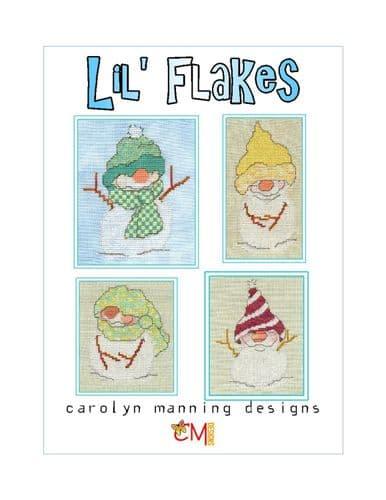 Carolyn Manning Designs Lil' Flakes Snowfall #1 printed cross stitch chart