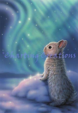 Charting Creations Aurora Bunny printed cross stitch chart