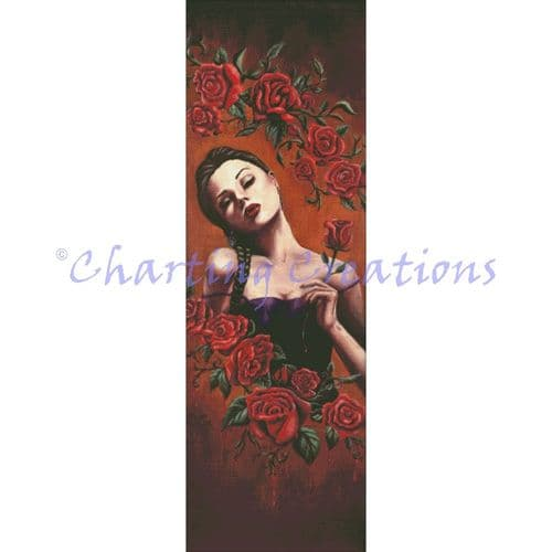 Charting Creations Blood Rose printed cross stitch chart