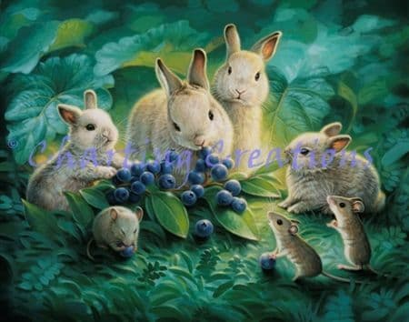 Charting Creations Blueberry Lunch printed cross stitch chart