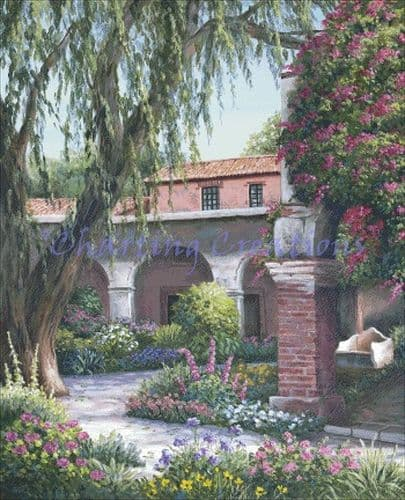 Charting Creations Capistrano Arches printed cross stitch chart