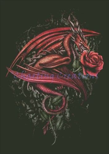 Charting Creations Dragons Rose printed cross stitch chart