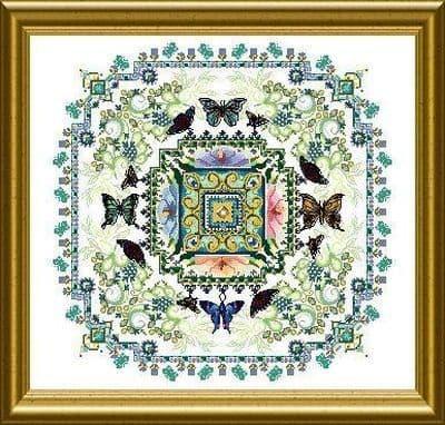 Chatelaine Butterfly Lace Mandala cross stitch chart