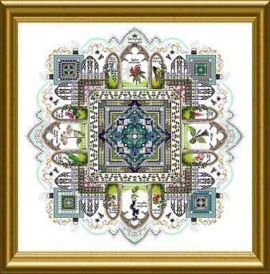 Chatelaine Poison Garden Mandala cross stitch chart