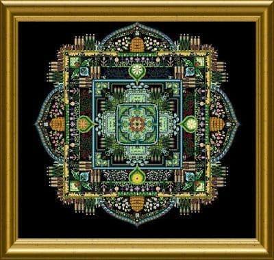 Chatelaine Summer Garden Mandala cross stitch chart