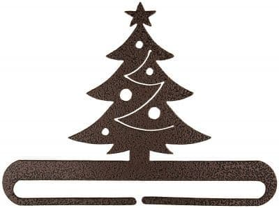 "Christmas Tree 8"" Copper Metal Bellpull"